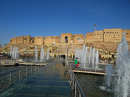 the Erbil Citadel viewed from the Central Square