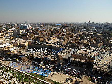 Erbil seen from the Citadel balcony