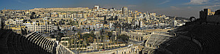 panorama of Amman from the Roman Theater