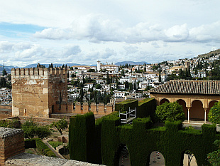 view from Alhambra on Granada
