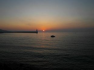 sunrise over Mediterranean Sea in Tarifa