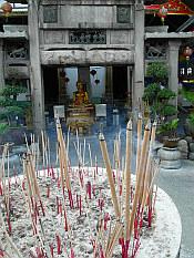 incense at Wat Kanlaya Temple