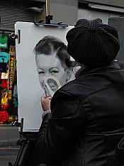 painting on La Rambla