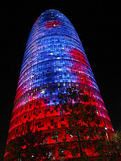 Torre Agbar enlightened
