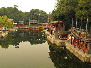 water canal near entrance to Summer Palace