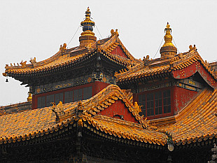 roofs of Yong He Gong Temple