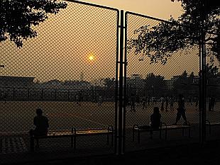 evening on Beihang University Campus