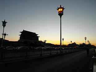 Qianmen at dusk