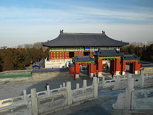 one of the gates to Temple of Heaven