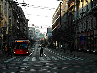 early morning on Bulevar Kralja Milana