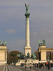Monument at the Heroes' Square (Hősök tere)
