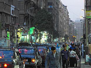 Talaat Harb Street by dusk