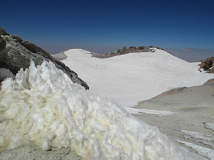 summit of Damavand, remnants of what once was a crater