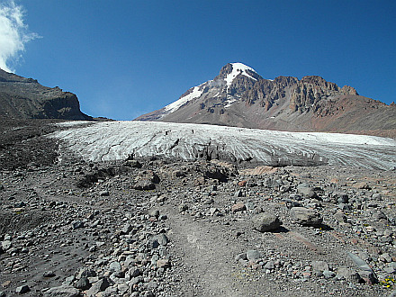 Kazbek and the Gergeti Glacier