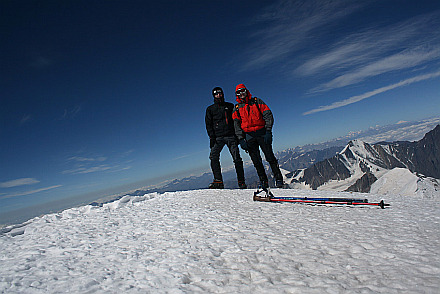 both of us at the summit (5047m)
