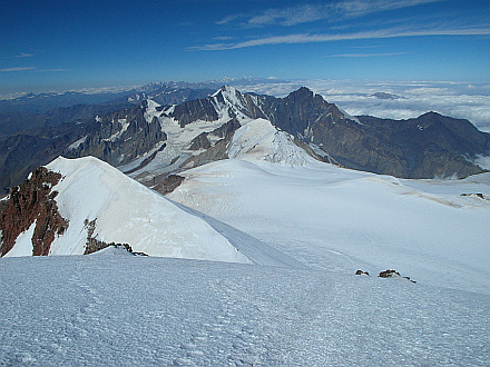 view from the top on the Western Caucasus