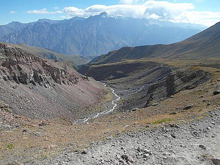 next day, descending to Kazbegi