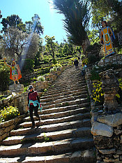 Inca stairs in southern part of Isla del Sol