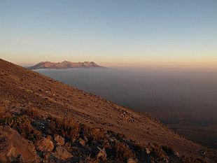 evening view towards Pichu Pichu (5571m)