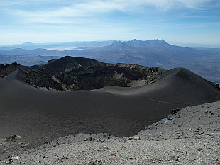 crater on the top of El Misti