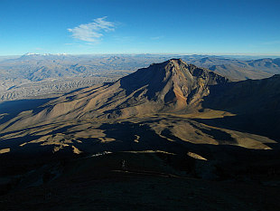 view from 5950m, on the left Ampato (6288m)