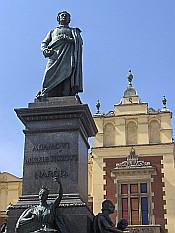 Statue of Adam Mickiewicz on Rynek Square