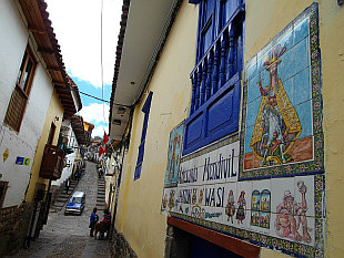 in the lanes of old Cuzco