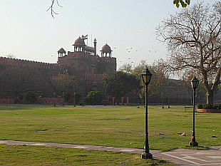 quiet in front of Red Fort