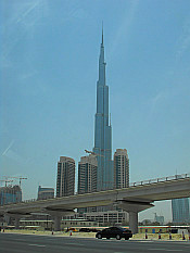 Burj Dubai seen from taxi on the way to the airport