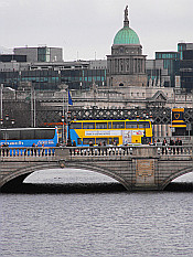 O'Connell Bridge and Customs House