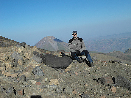 in Camp 1, Little Ararat (3923m) behind me