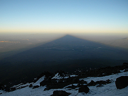 natural masterpiece... Ararat mountain throws giant shadow