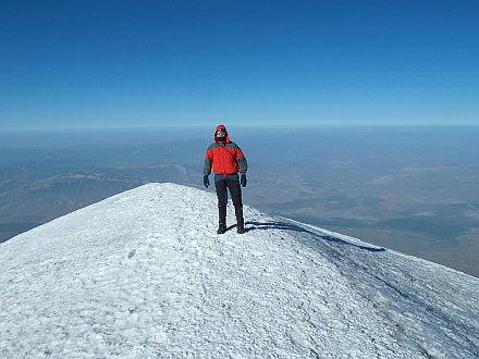 on top of Ararat, 5165m
