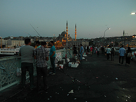 evening on Galata Bridge