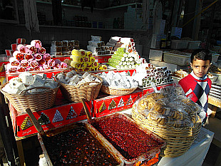 selling sweets in bazaar