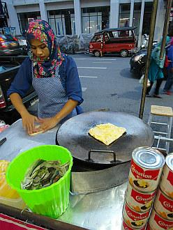 waiting for the first banana pancake - Hat Yai, Thailand