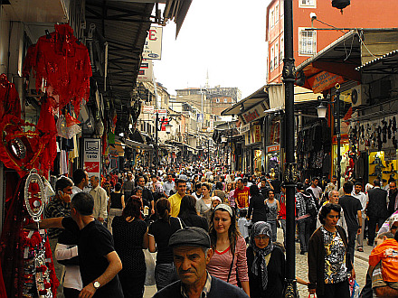 a lot of people - the Grand Bazaar in Istanbul