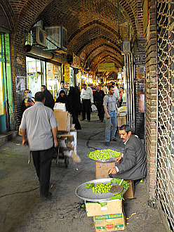 inside of the Tabriz bazaar
