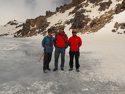 with Ali and Majid on the summit (4780m)