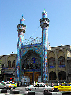 mosque close to Tehran's bazaar
