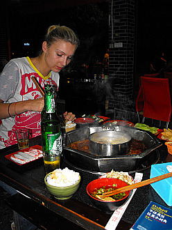 famous Sichuan hot-pot (huo guo)