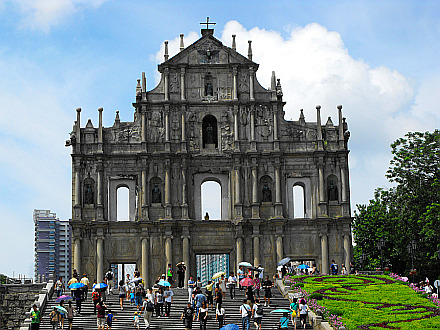 Macau - remains of St. Paul's church