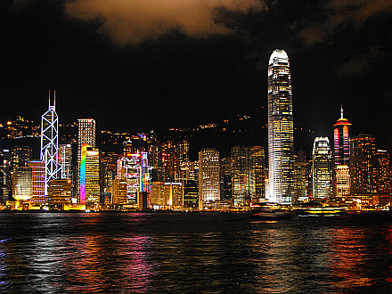 stunning - Hong Kong skyline by night