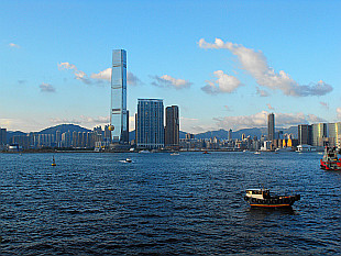 Kowloon seen from Central