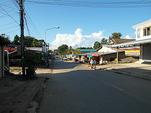 main drag in Houay Xai