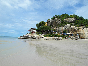southern tip of Hua Hin beach