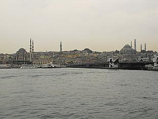 view from Karakoy pier to Grand Bazaar area