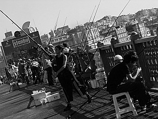 fishing on Galata bridge