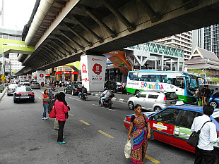 hustle bustle of KL Downtown