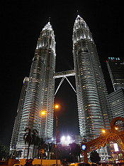 Petronas Towers - 452m high (highest skycraper in the world between 1998 and 2004)
